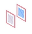 mirror with reflection isometric vector image vector image