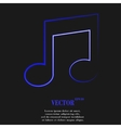Music note Flat modern web button and space for vector image vector image