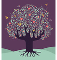 Musical spring time tree vector image vector image