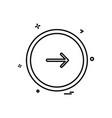 next button icon design vector image