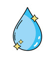 nice water drop with stars design vector image vector image