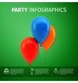 party infographics vector image