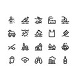 pollution line icons vector image vector image