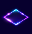 rhombus background on dark blue backdrop vector image vector image