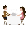 romantic date man and vector image
