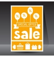 Sale and shopping flyer advertising poster design vector image vector image