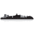 Saskatoon Canada city skyline silhouette vector image vector image