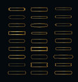 set elegant frames minimalist horizontal frame vector image