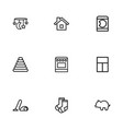 set of 9 editable relatives icons line style vector image