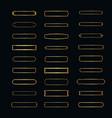 set of elegant frames minimalist horizontal frame vector image