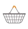Shopping basket icon flat style isolated on white vector image