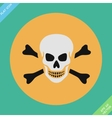 Skull and bones warning sign vector image vector image