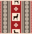 south american fabric pattern with lamas vector image vector image