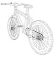 sport isolated bicycle wireframe concept vector image vector image