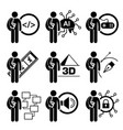 student degree in information technology vector image vector image