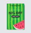 summer sale watermelon lettering badge design vector image vector image
