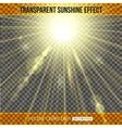 Sunshine effect over transparent background vector image vector image