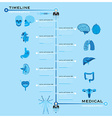 Timeline Health And Medical Infographic vector image vector image