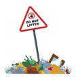 unauthorized landfills in forbidden zone vector image vector image