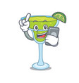 with phone margarita character cartoon style vector image
