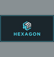 xm hexagon logo design inspiration vector image vector image