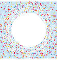 card with confetti lines and curves vector image
