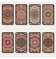 business cards collection with kaleidoscope vector image
