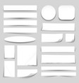 White Blank Paper Banners Collection vector image