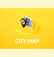 city map isometric icon isolated on color vector image