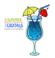 cocktails one cartoon 8 vector image