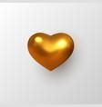 3d golden metallic heart vector image vector image