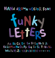 ABC alphabet funky letters children fun colorful vector image vector image