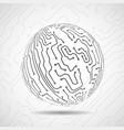 abstract ball of circuit board vector image vector image