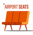 airport seats hall departure public vector image