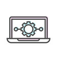 artificial intelligence icon with laptop symbol vector image