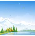 Autumn scenery vector image vector image