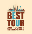 banner with planes and various attractions vector image vector image