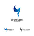 bird logo flying bird logo design template dove vector image vector image