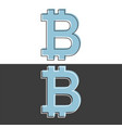 bitcoin symbol icon black and white design flat vector image