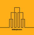 building abstract logo concept background vector image vector image