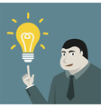 Businessman and lamp idea conception vector image