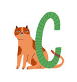 capital letter c childish english alphabet vector image vector image