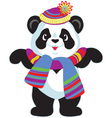 Cartoon panda wearing hat