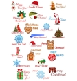 Christmas and New Year elements set vector image vector image