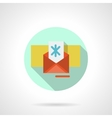 Christmas envelope flat color icon vector image vector image