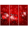 christmas red balls background 10 2 v vector image vector image