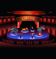 circus performance vector image