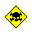Danger poison sign yellow attention toxic hazard