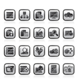 data and analytics icons vector image