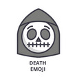 death emoji line icon sign vector image